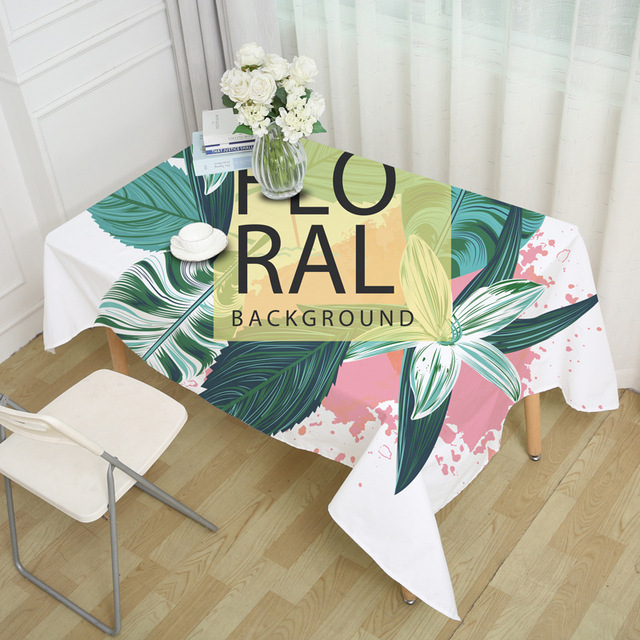 RUBIHOME Square Tablecloth Party Household Items Cartoon Decorations for Home Outdoor Table Cover & RUBIHOME Square Tablecloth Party Household Items Cartoon Decorations ...