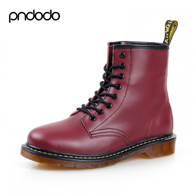 4685f7d6 Fashion Men's Boots Ankle Botas Brand Motorcycle Boots Winter Leather Dr  Martin Boots Fur Martin Women High Top Casual Shoes