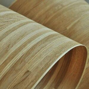 Image 4 - טבעי פרקט עץ פורניר רוסית אלון פורניר צלב לחתוך עם תומך צמר