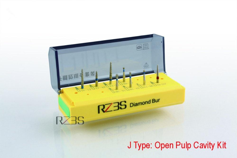 10Pcs 1.6mm FG Carborundum Burr Yellow Polishing Burs