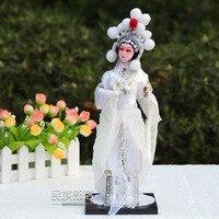 Freeshipping 32cm Beautiful Chinese Opera Doll Beijing Silk People Dolls Home Decration Arts Chinese Traditonal Culture