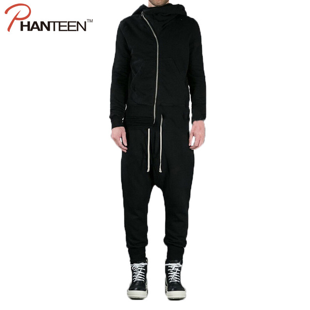Brand Hiphop Style Man Dropped Crotch Trousers Loose Black Color Harem Pants Elastic Casual Cross-pants Fashion Men Clothing