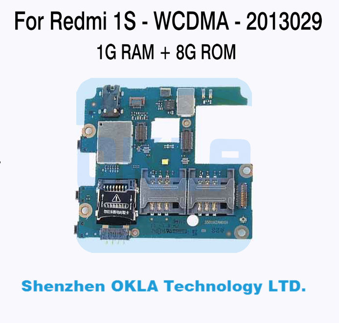 imágenes para 1 unids para mi hongmi xiaomi redmi 1 s 2013029 wcdma 1 gb ram 8 gb rom motherboard placa lógica reemplazo original usado