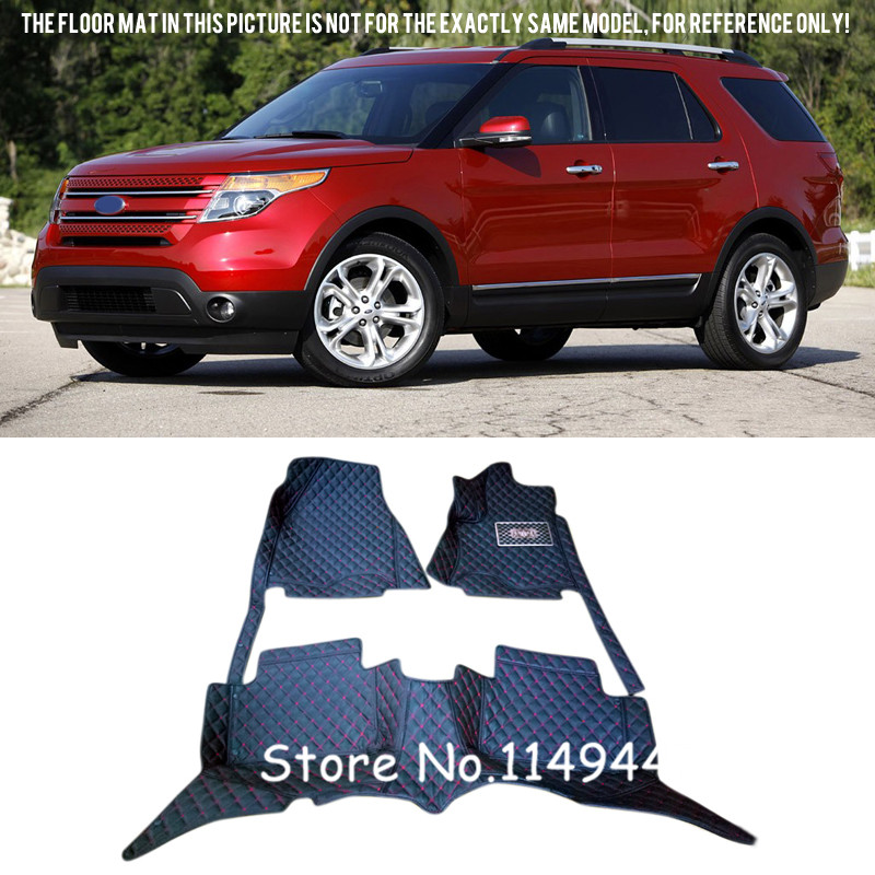 For Ford Explorer 7 Seats 2011-2015 Interior Durable Auto Waterproof Custom Car Floor Mats Full Set nature explorer box set