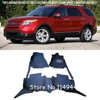 For Ford Explorer 7 Seats 2011 2015 Interior Durable Auto Waterproof Custom Car Floor Mats Full