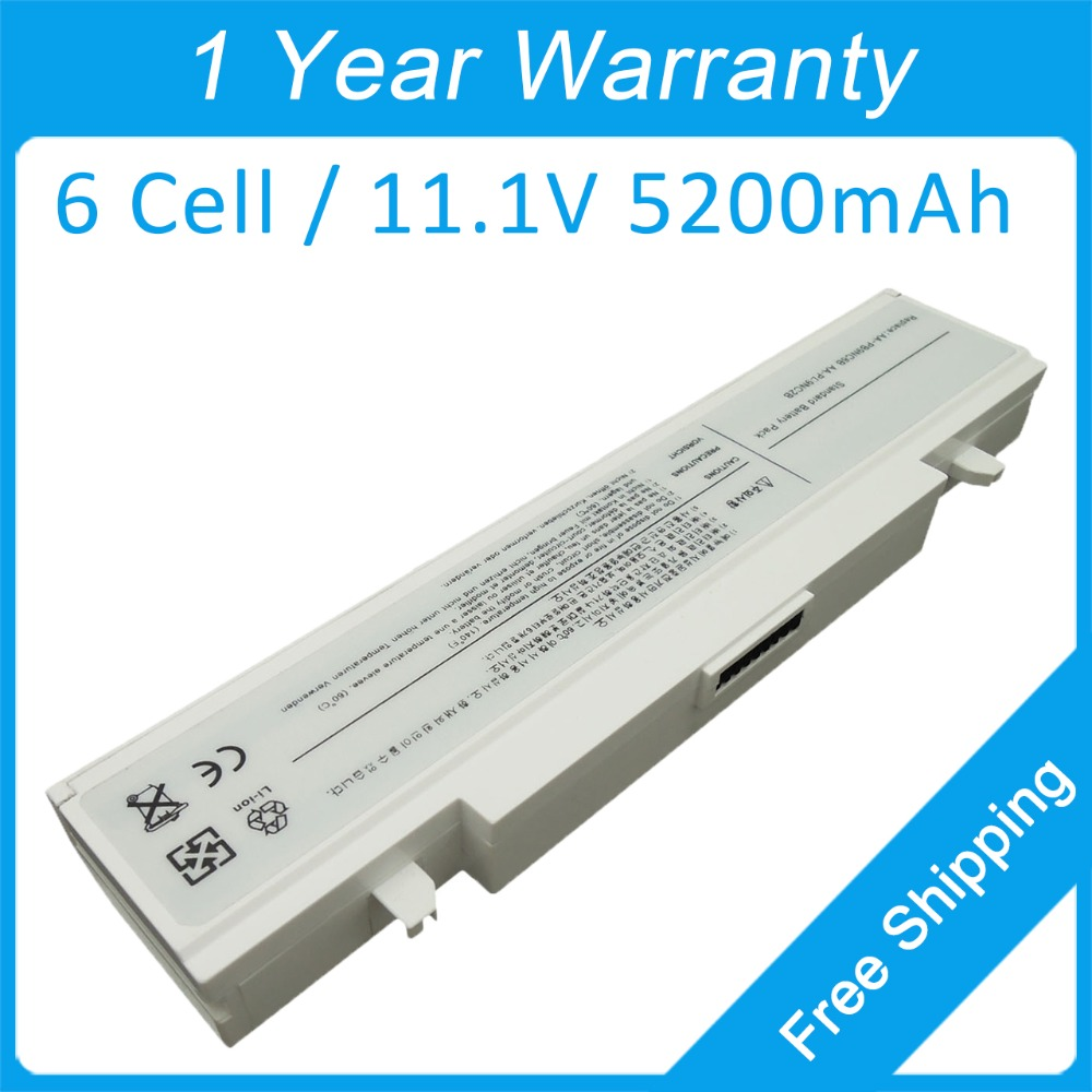 White 6 cell laptop battery AA-PL9NC6B for <font><b>samsung</b></font> NP-R780 NT-P430 Q530 RF410 RF411 NP-RC410 NT-<font><b>P480</b></font> R418 RF480 NP-RC420 NT-P510 image