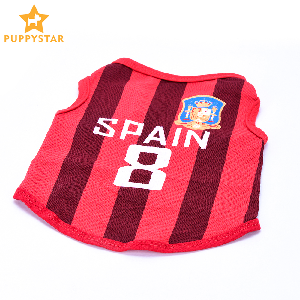 23340f57d Detail Feedback Questions about Dog Vest Cotton Striped Summer Soccer Rugby Football  Dog Clothes Sport Jersey Chihuahua Pet Tshirt Yorkie Pet Products ...