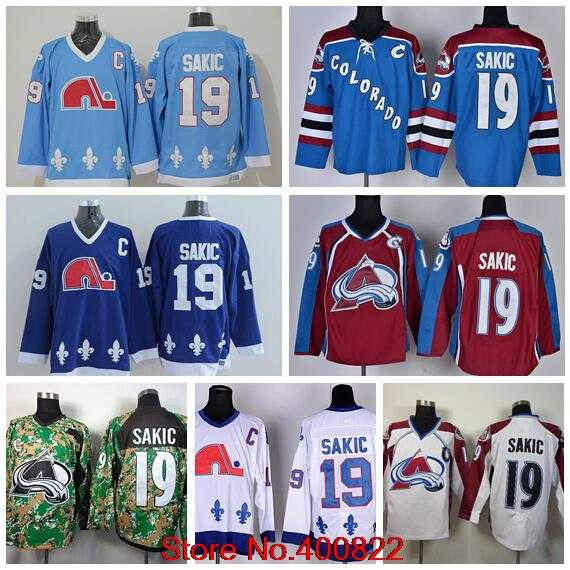 new concept b7b41 d3dc4 19 Joe Sakic Mens Quebec Nordiques Jersey Cheap Colorado ...