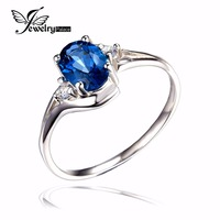Natural London Blue Topaz Engagement Ring Genuine 925 Sterling Silver New Hot Top Quality Women Fashion