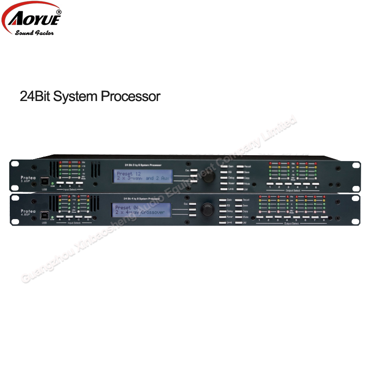 4.8SP Digital dr DSP Speaker Management Audio driverack   Processor 4 In x 8 Out DSP Audio Processor  driverack  with USB wavelets processor