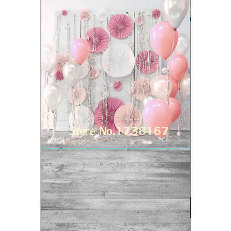 Pink balloon Photography Backdrop Digital Printed Vinyl or Polyester Valentine Red Peony Backgrounds For Children Photo Studio 8x10ft valentine s day photography pink love heart shape adult portrait backdrop d 7324