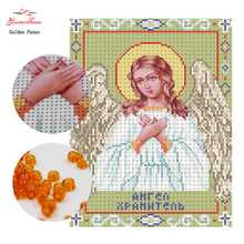 GoldenPanno,Needlework,DIY bead Cross stitch,Embroidery stitch Gods daughter,angel , Precise Printed religion Pattern cross