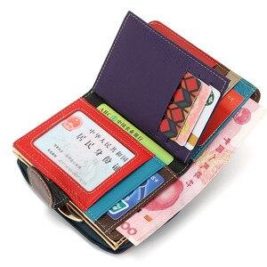 Image 4 - Skóra bydlęca kobiety torebka małe portfele luksusowe marki pani monety torba na kieszonkowe portfel damskie portmonetki carteira feminina