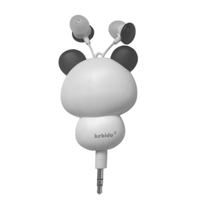 Image 5 - Kebidu 3.5mm Wired חמוד פנדה נשלף אוזניות אוזניות אוזניות חכם טלפון MP3 יום הולדת מתנה עבור ילד