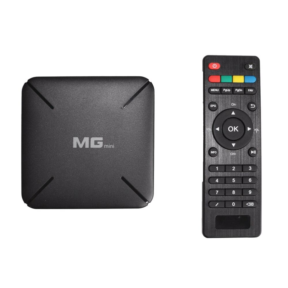 5 pcs/lot MG MINI Smart TV Box Système Linux Set Top Box 4 k ULTRA 2.4 3gwifi Ultra Super prend en charge h2.65/harceleur réseau Media player