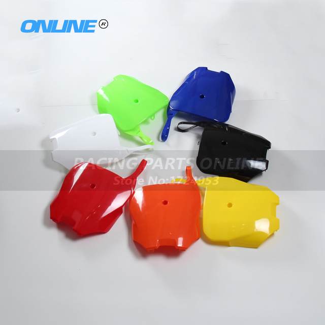 Front Plastic Number Plate number card plastic Cover Kit For Chinese Made CRF70 Pit Bike 150cc & Front Plastic Number Plate number card plastic Cover Kit For Chinese ...