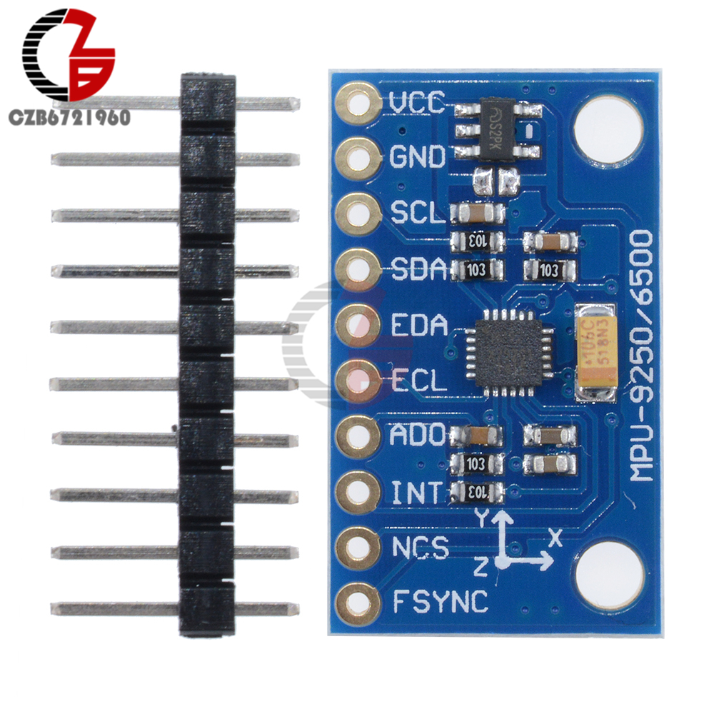 3V 5V SPI IIC I2C MPU 9250 GY-9250 MPU9250 9-Axis Attitude + Gyro + Accelerator + Magnetometer Sensor Module DIY Kit Board