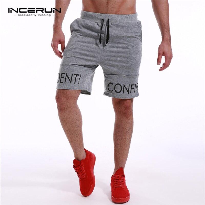 Incerun 2017 summer men knee length shorts casual joggers short sweatpants cotton leisure - Jogging a la mode ...