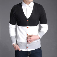 Men S Male Cotton Knit Cardigan Sweater Knit Sweaters Jumper Pullover For Man