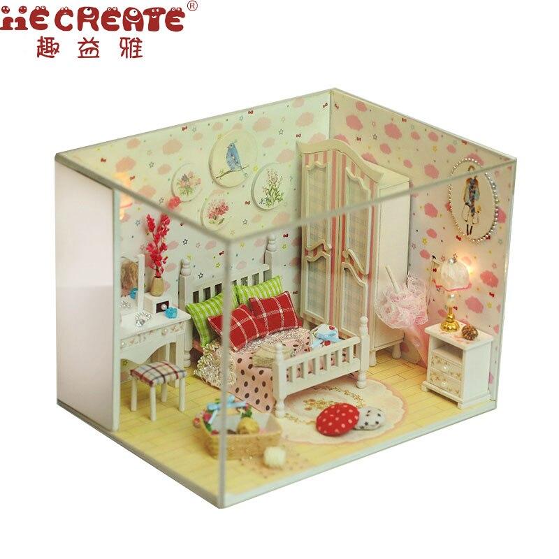 Дерево кукольный дом Мебель DIY Кукольный дом комплект сборки Игрушечные лошадки для детей/друга сладкий подарок и Красота мечта DIY Главная и...