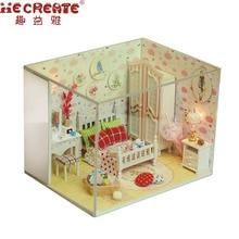 Ξύλινα Έπιπλα Σπίτι Κούκλα DIY Σπίτι Κούκλα Σπίτι Συναρμολόγηση Παιχνίδια για τα παιδιά / δώρο του φίλου Γλυκό και ομορφιά Dream DIY σπίτι παιχνίδι