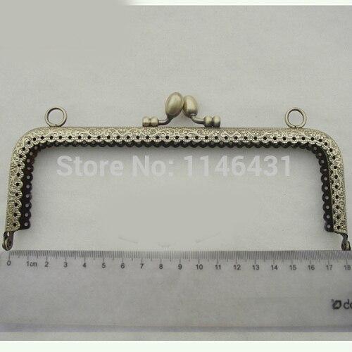 18cm 10pcs/lot embossed metal purse frames handbag handles clutch ...