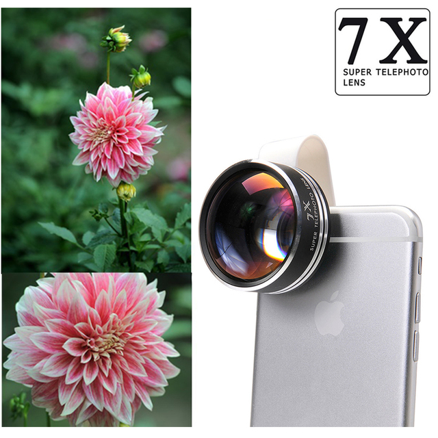 2017 New Super 7X Telephoto Lens Optical Telescope With Clips Camera Phone Lentes For Huawei HTC Sony LG Lenovo ZTE Asus Meizu