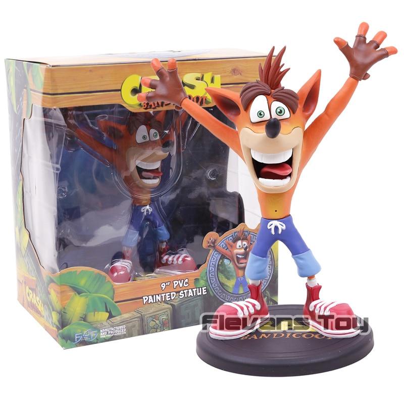 "Crash Bandicoot 4 Gioco 9 ""Lupo IN PVC Dipinta Statua Action Figure Toy Collection"