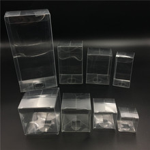 25pcs Clear Plastic Packaging Boxes different sizes PVC Cosmetic Bottle Electronic Gift Boxes Cake Candy Macaron Packing Box
