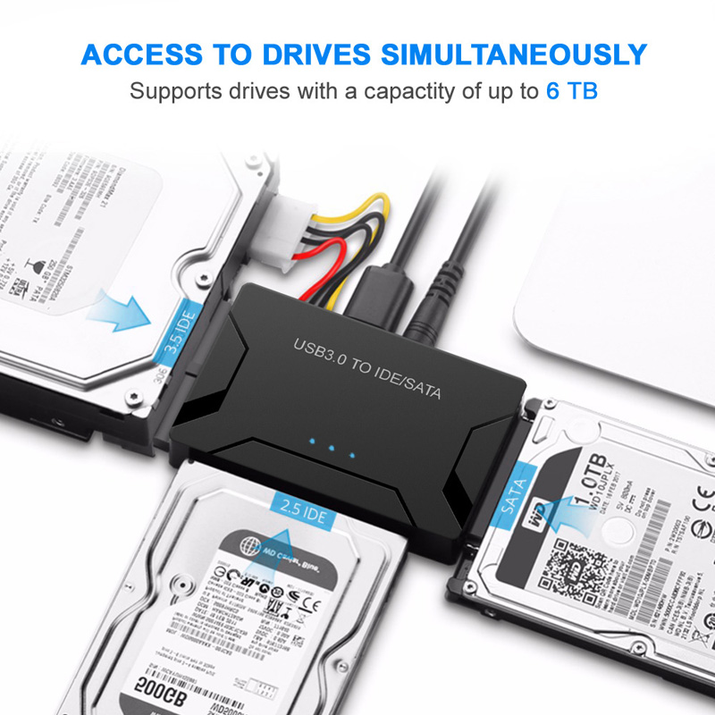 Image 4 - SATA Combo USB IDE SATA Adapter Hard Disk SATA to USB3.0 Data Transfer Converter for 2.5/3.5/5.25 Optical Drive HDD SSDide satausb ide satasata to -