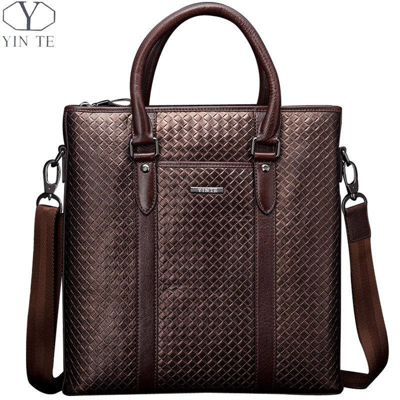 2016 korean tassels weave handbag fashion concise single shoulder package woman package YINTE Genuine Leather Men's Handbag Casual Shoulder Bag Leather Laptop Bag Leisure Package Weave Pattern Bags Portfolio T22841