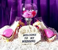 2018 New decorations quicksand tower/Wish sand/Wedding Wishing props.Wedding decoration props/windows display