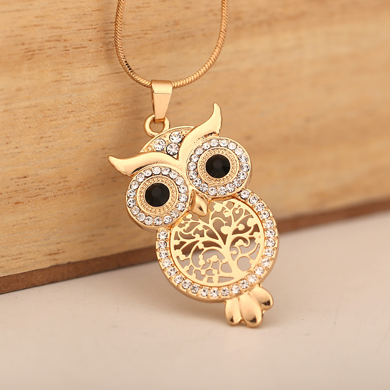Small Gold Owl Necklace