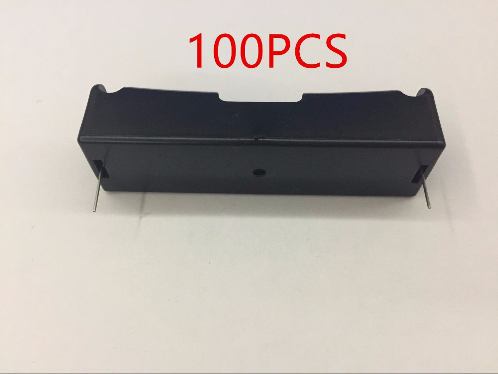 Wholesale 100Pcs DIY 1x 18650 Battery Storage Box 18650 Battery Case Battery Holder With Pin For