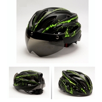 Windproof Cycling Helmet With Goggle MTB Helmet Bike Mountain Road Bicycle Helmet specialiced Helmet spare parts For Bicycles