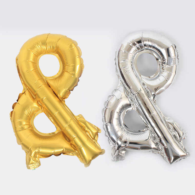 Бесплатная доставка Новый 16 дюймов золотистые Серебристые шарики с символом Алюминиевые шарики для свадебной Вечеринка дня рождения событие украшения globos для детей на день рождения