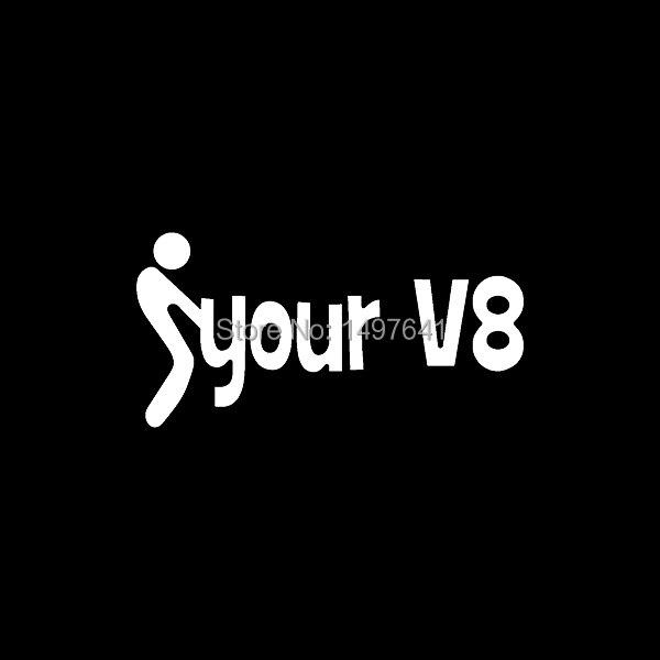Fck your v8 sticker motor car vinyl decal engine truck bumper auto suv door