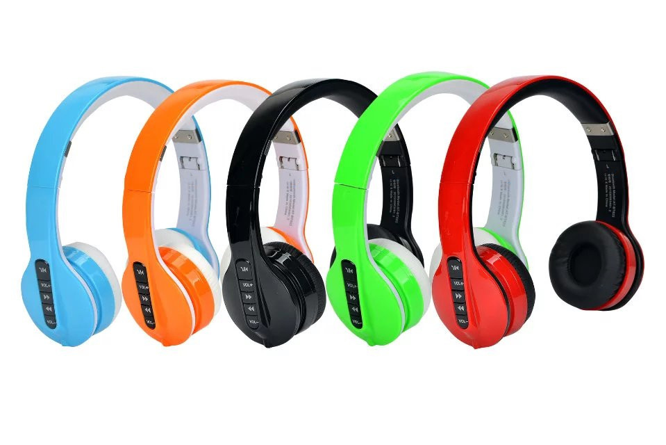 Wireless Bluetooth Stereo Headphone Foldable Sports Bluetooth Headset Build-in Mic Earphones for iPhone Xiaomi Huawei