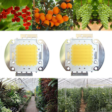 2pcs 50W Watt White Full Spectrum 380~780nm 4500LM 45mil 30V-36V 1600mA SMD LED Chip Diodes For All Stage Plant Grow Light