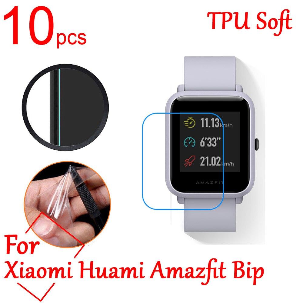 10pcs Ultra Clear TPU Soft LCD Full Screen Protector <font><b>cover</b></font> For Xiaomi Huami Amazfit Bip Youth <font><b>Smart</b></font> sports Watch Protective Film