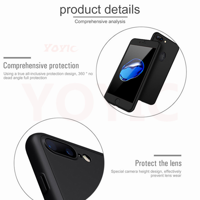Image 4 - 360 Degree Full Cover Case For iPhone X 7 6s 5s 5Case Cover For Apple iphone X 7 6 Plus 8 8 Plus Capa Coque With Tempered Glass-in Fitted Cases from Cellphones & Telecommunications