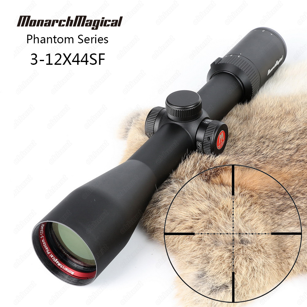 MonarchMagical Phantom Series 3-12X44 SF Mil Dot Side Parallax Hunting Rifle Scope Riflescope Top Quality Tactical Optical Sight шлепанцы hurley sample phantom sandals rifle