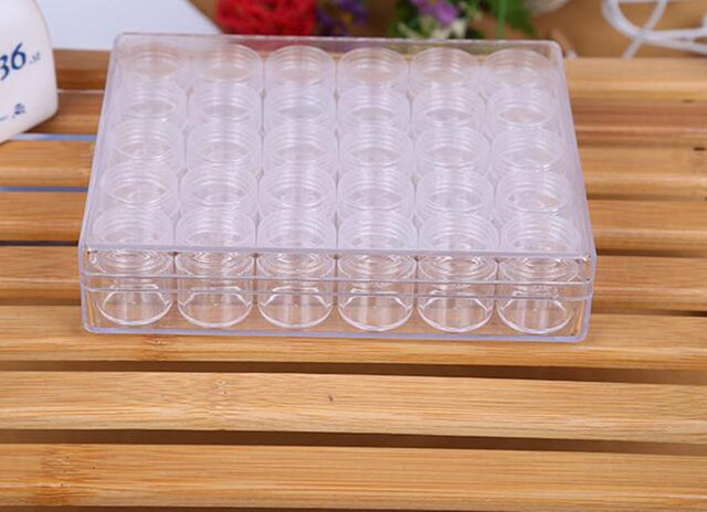 Modern Style Plastic Storage Boxes 30 Girds/Box Transparent Organizer Articles for Daily Use 16cm*13.5cm*3.5cm