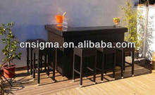 New!!! Outdoor Resin Wicker Bar Table And Chair Set(China)