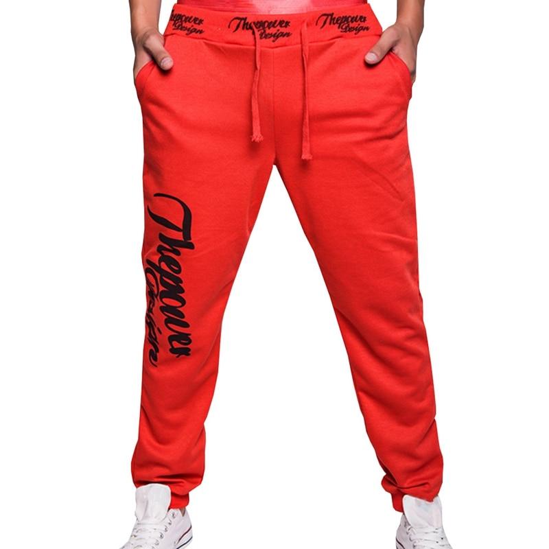 2018 Autumn New Style Mens Casual Sweat Pants Men Alphabet Print Fitness Fashion Pants Men Personality Popular Pants M-XXL