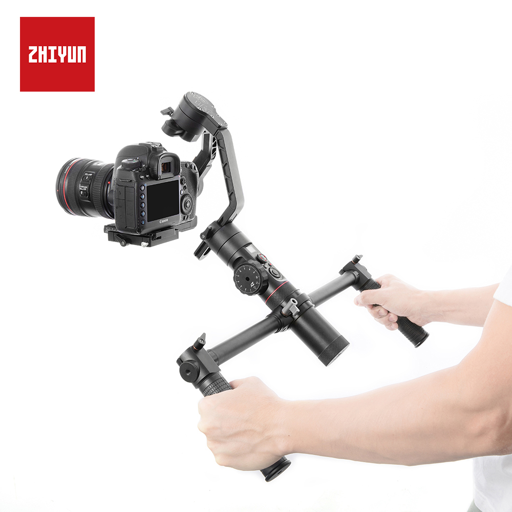 ZHIYUN Official Dual Handheld Extended Handle Accessories with 1/4 Screw Hole Grips  Handbar Mount for Crane 2 Gimbal Stabilizer-in Gimbal Accessories from Consumer Electronics