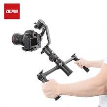 Zhiyun Officiële Dual Handheld Verlengde Handvat Accessoires Met 1/4 Schroefgat Grips Handbar Mount Voor Kraan 2 Gimbal Stabilizer