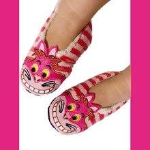 Winter Children Slipper Shoes Boys Girls Indoor Slippers Cheshire Cat Warming Baby Home
