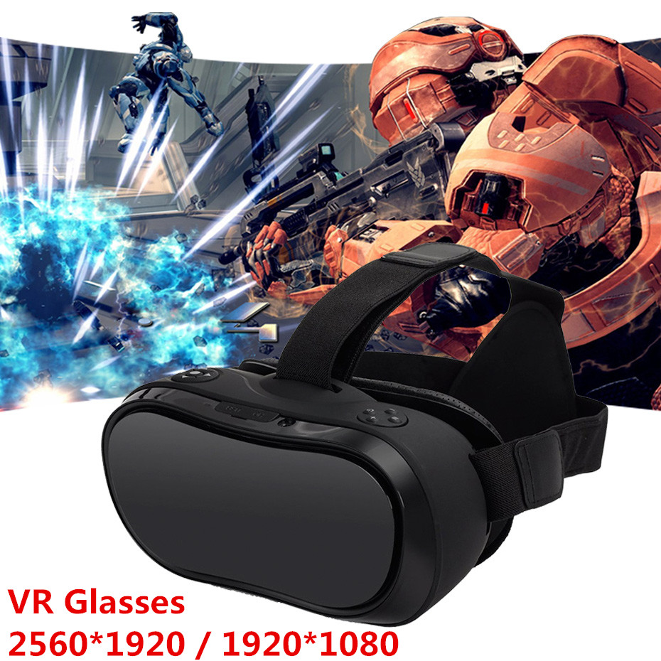 VR Box 3D Headset All In One VR Glasses 2560*1440P HD Display Virtual Reality Goggles HDMI For PS 4 Xbox 360/One 5.1 Screen 2017 fancyman 3d vr box all in one headset cpu rk3288 vr glasses screen ips 5 5inches tft 2k 2560 1440 pix with mini hdmi wifi