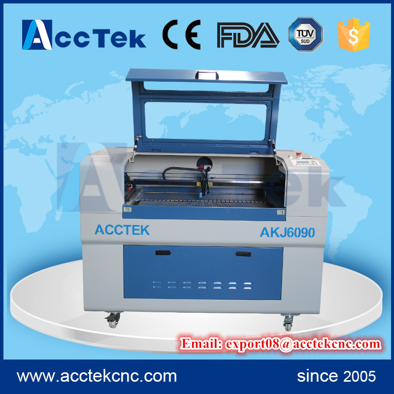 acctek co2 3d laser engraving machine/ cnc laser engraving machine/ mini laser engraver 6090 price acctek mini cnc desktop engraving machine akg6090 square rails mach 3 system usb connection